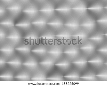 Shiny Light Gray Polished Metal - stock photo