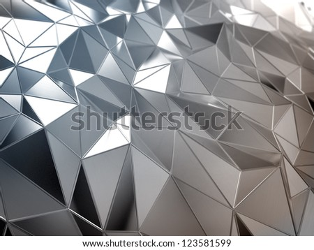 Shiny metal abstract surface - industrial background - stock photo