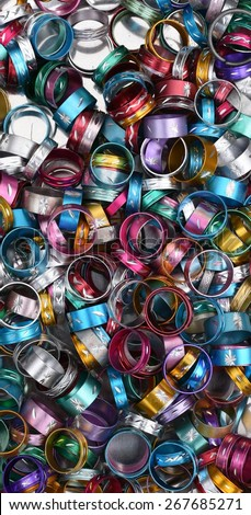 Shiny metal rings for fashion - stock photo