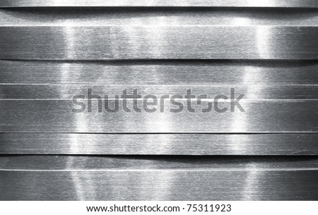 Shiny metal strips - stock photo