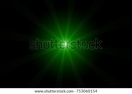 shiny neon green star abstract digital stock illustration 753060154