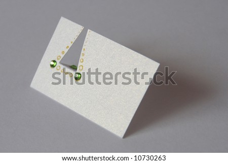 Shiny paper card for notes