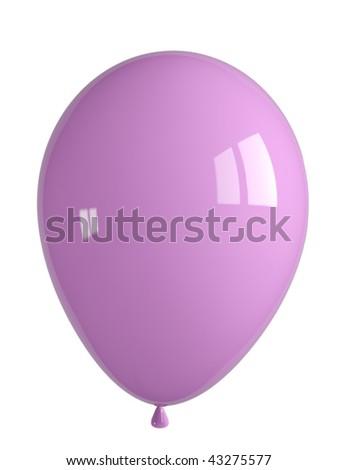 shiny pink balloon - stock photo