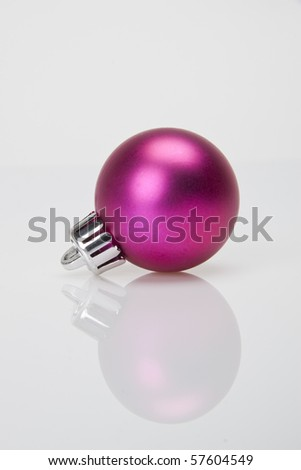 Shiny pink Christmas ornament - stock photo