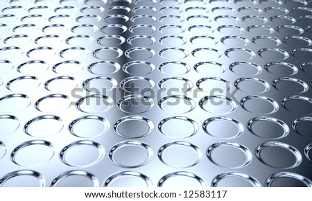 shiny polished metal with grooves - stock photo
