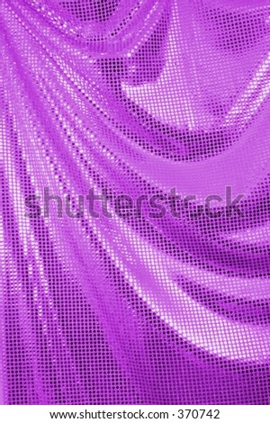 Shiny Purple Drape - stock photo