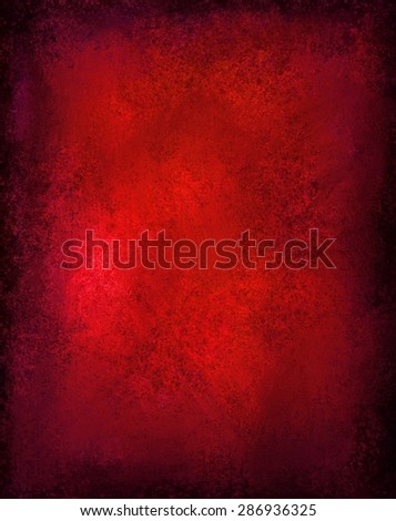 shiny red background with black vignette border and vintage grunge texture, rich red Christmas background color, elegant luxury background design for website layouts, posters, signs - stock photo