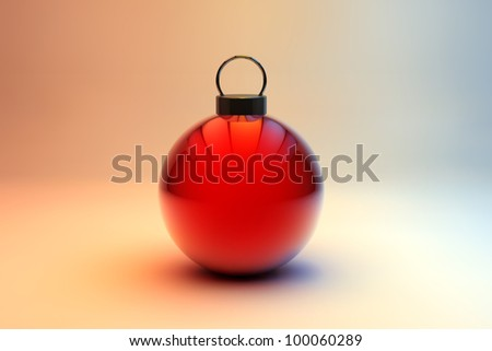 Shiny red Christmas bauble - Holiday ornament background
