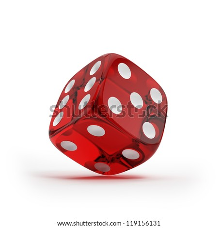 Shiny red dice - stock photo