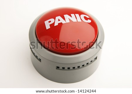 Shiny red panic button