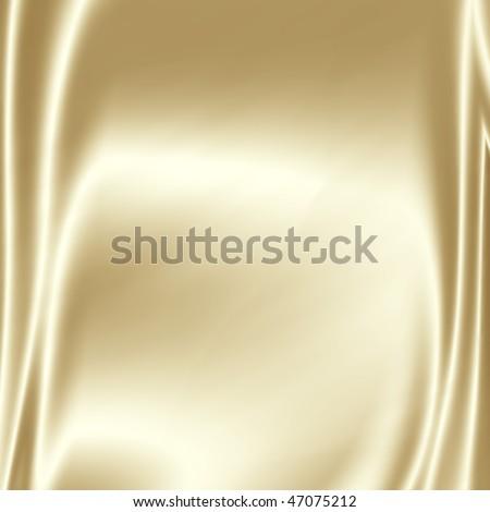 Shiny silky fabric - stock photo