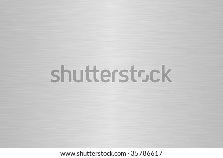 Shiny silver brushed steel background - stock photo
