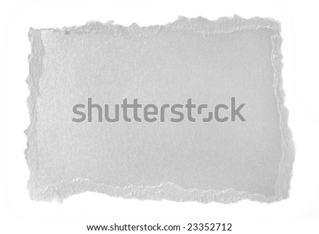 Shiny silver paper scrap isolated on a white background.