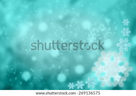 Shiny snow abstract background
