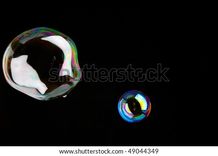 shiny soap-bubbles - stock photo