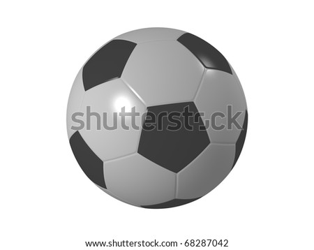 Shiny soccer ball isolated on white