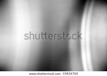 Shiny stainless steel horizontal abstract grey background - stock photo