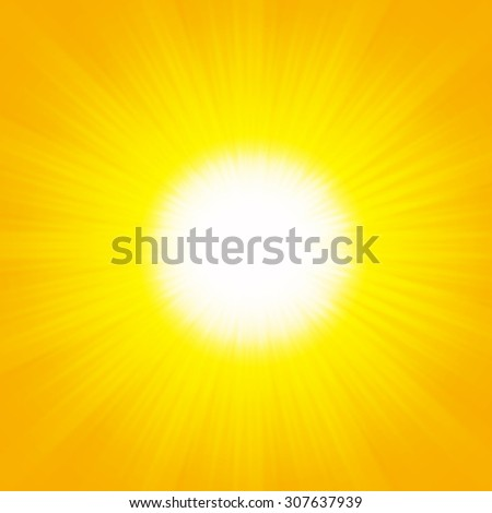 Shiny summer lights, starburst & sunburst background - stock photo