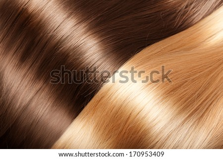 Shiny texture luxurious hair - stock photo