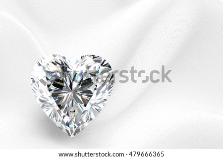 Shiny white diamond illustration (high resolution 3D image) 3D illustration