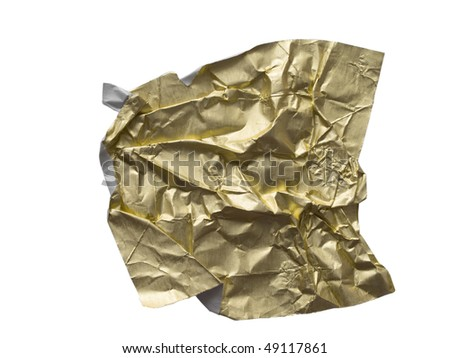 shiny wrinkled paper - stock photo