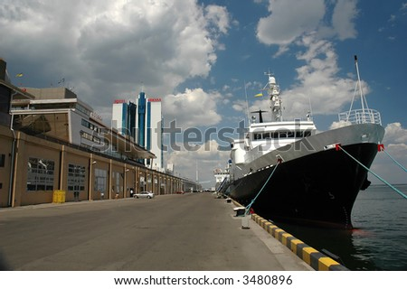 ship at harbor - stock photo