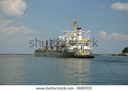 ship at harbor