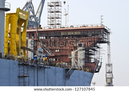 Ship building - stock photo