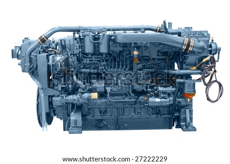 ship engine isolated - stock photo