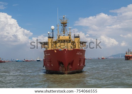 ship in the deep sea