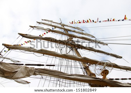ship mast - stock photo