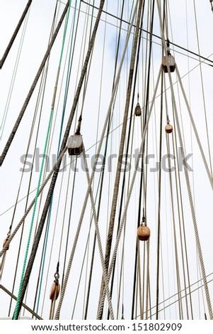 ship mast - stock photo