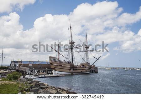 Ship Mayflower II, Plymouth, Massachusetts - stock photo