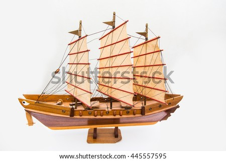 ship model isolated on white background