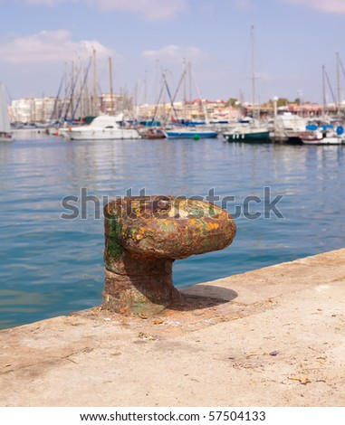 ship mooring - stock photo