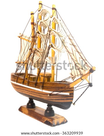 ship on a white background