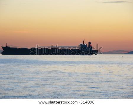 ship outline - stock photo