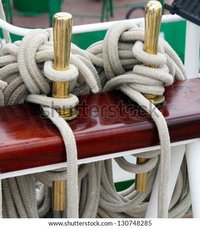Ship rigging - stock photo