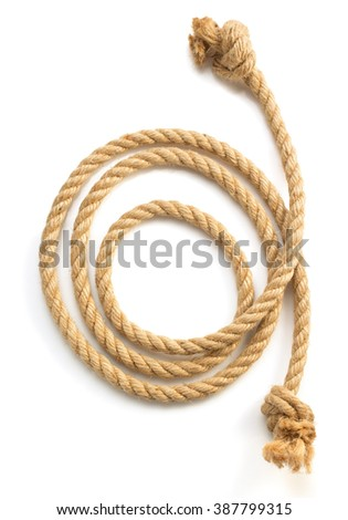 ship rope isolated on white background - stock photo