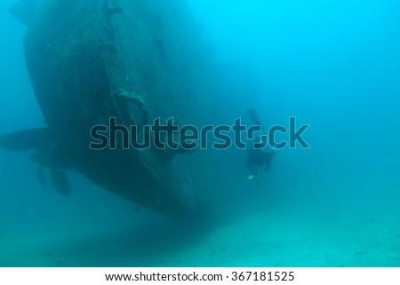 Ship's wreck - stock photo