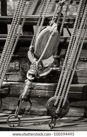 Ship tackles. - stock photo