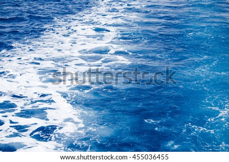 Ship trace on the sea surface
