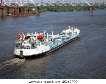 Ship transportation industry freight vessel - stock photo