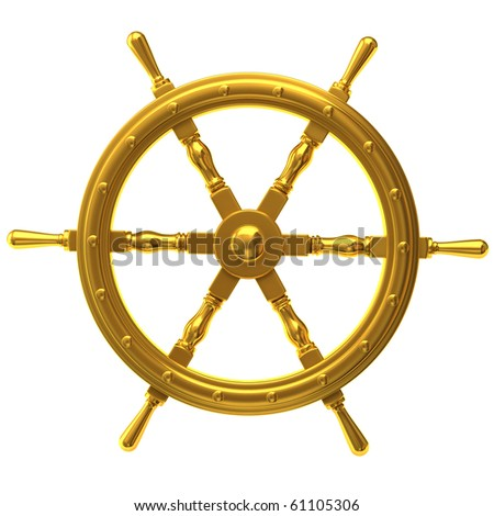 Ship Wheel - stock photo