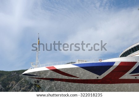 Ship with English flag