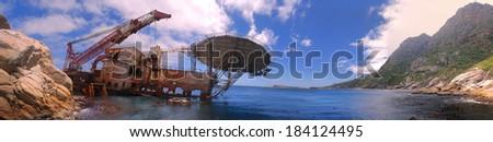 Ship Wreck - stock photo