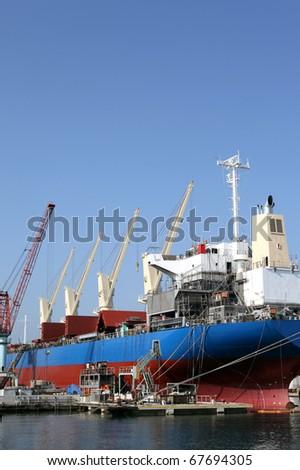 Ship yard - stock photo