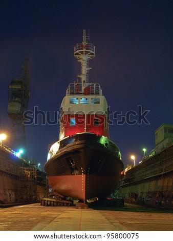 Shipbuilding, ship repair - stock photo