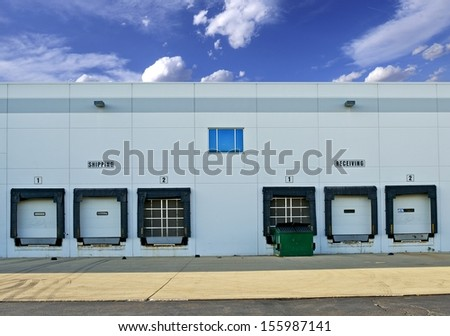 Shipping and Receiving Storage Warehouse Gates. Logistics Photo Collection. - stock photo