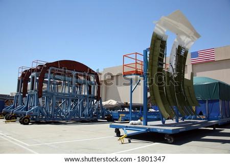 Shipping Area of Aerospace Plant Facility - stock photo